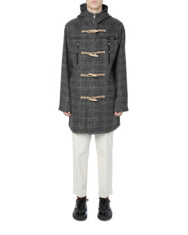Plaid duffle overcoat