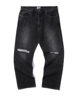 Straight distressed jeans