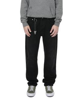 Strap detail denim jeans