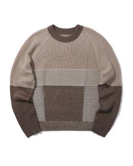 Mismatch knit pattern sweater