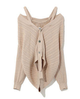 Off shoulder knit cardigan