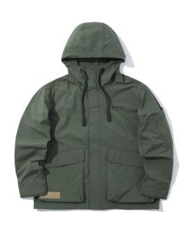 Layered windbreaker jacket