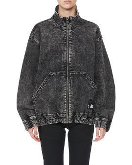 Denim zip-up jacket