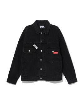 Logo patch denim jacket