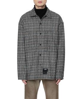 Wool check shirt jacket