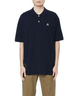 Pique embroidered patch polo