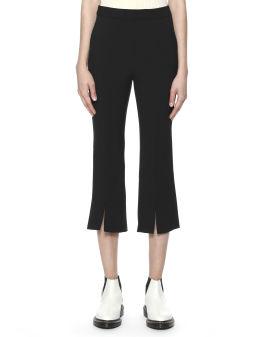 Front split frayed pants