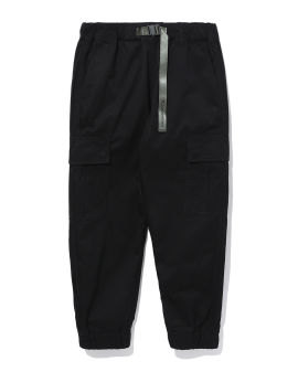 Cotton twill slim cargo pants