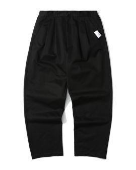 Pleated twill chino pants