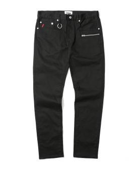 Zip detail jeans