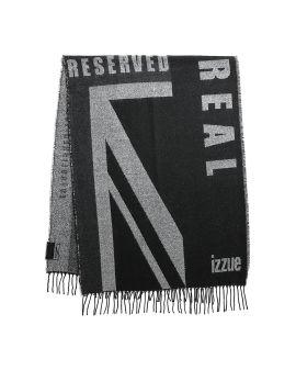Logo flag knit scarf