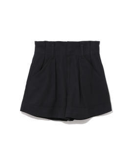 Linen high-waisted shorts