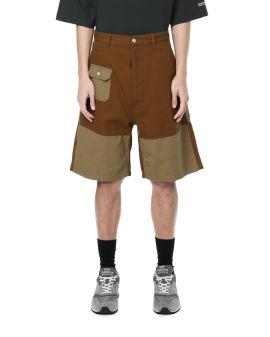 Canvas patchwork shorts