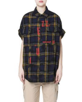 Acid tie-dye check shirt