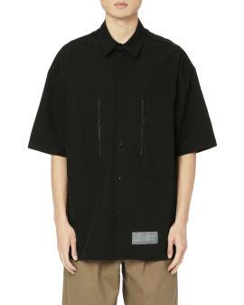 Chest zip relaxed shirt