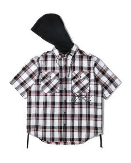 Checker hooded shirt