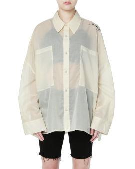 Satin coating shirt