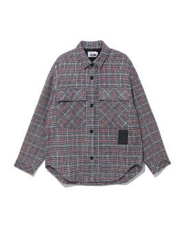 Check print flap pocket shirt