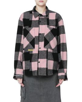 Fannel check print shirt