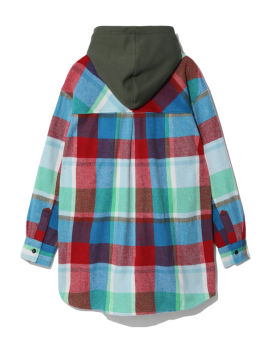 Flannel panelled shirt