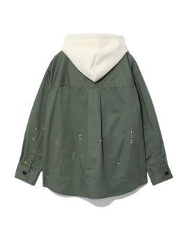 Panelled paint splatter shirt