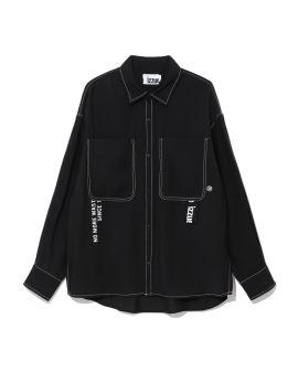 Rayon poly pockets shirt