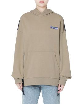Colorblock panelled hoodie