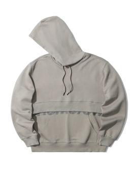 Double rib text print hoodie