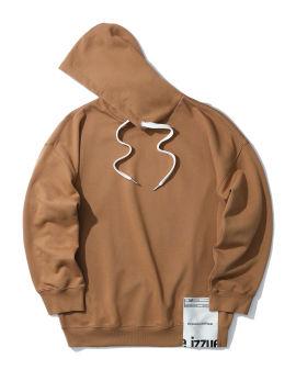 Fleece label hoodie