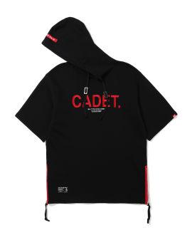 Side zip embroidered hoodie
