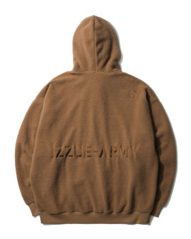 Polar fleece zip-up hoodie