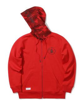 X Ursus Bape camo hood zip hoodie