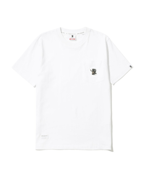 f9caa2a3 izzue X Ursus Bape embroidered chest pocket tee
