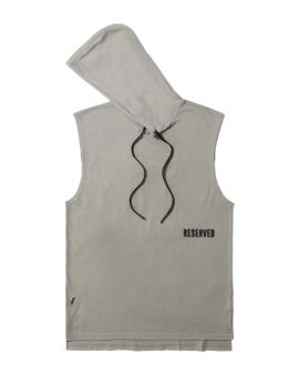 Reserved hooded tank top