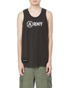 Army print tank top