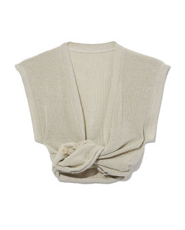 Knotted knit top