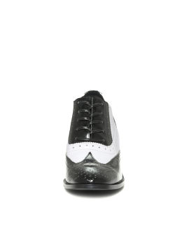 Leather spectator shoes