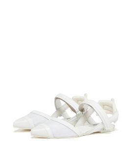 Panelled toe flats