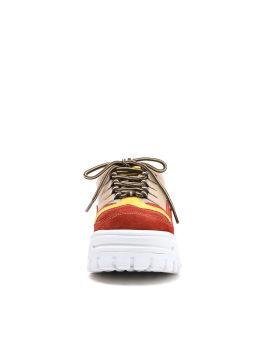 Panelled platform sneakers