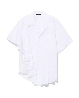 Asymmetrical ruffle shirt
