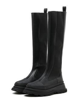 Knee chelsea boots