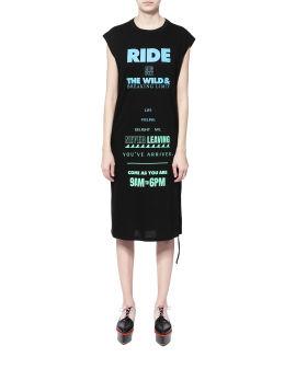 Slogan print dress