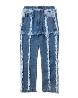 Distressed seams jeans