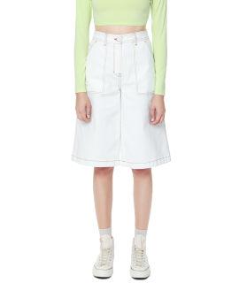 Straight-fit denim shorts