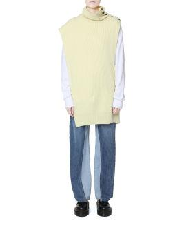 Knitted high neck vest