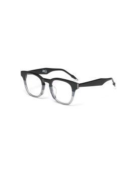 Gradient stripe wayfarer glasses