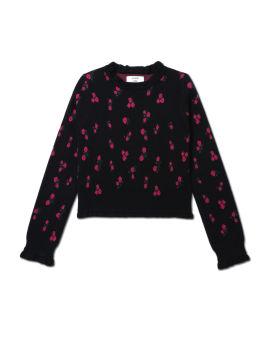 Ruffled edge sweater