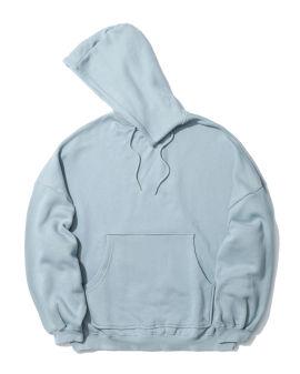 Oversized slit neck hoodie