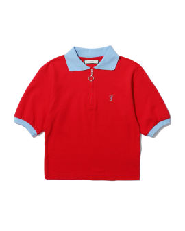 Initial embroidered polo top