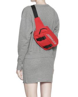 Strass logo clip waist bag